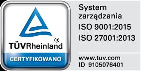 TÜV Rheinland Polska ISO 27001 9001